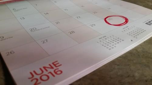 June 30 calendar